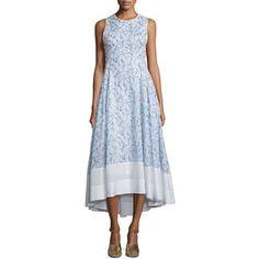 Tory Burch Crisscross-Back High-Low Dress