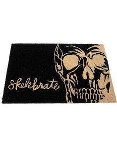 'Skelebrate' the spooky Halloween season with this welcoming coir doormat. Coir W x H Halloween Jokes, Creepy Halloween, Halloween Season, Halloween Themes, Halloween Decorations, Reindeer Lights, Mould Design, Coir Doormat