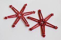 Vánoční ozdoba - hvězda z korálků - návod