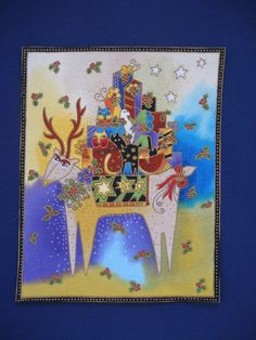 Gorgeous Handmade Laurel Burch Holiday Applique*RARE fabric/7