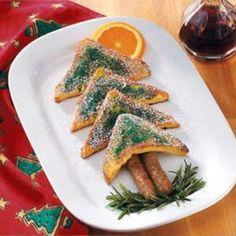 CHRISTMAS FRENCH TOAST! SAUSAGES , & ORANGE SUN. GREAT IDEA.