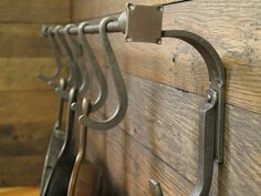 Pot Rack Craftsman Style by EchoHillForge on Etsy