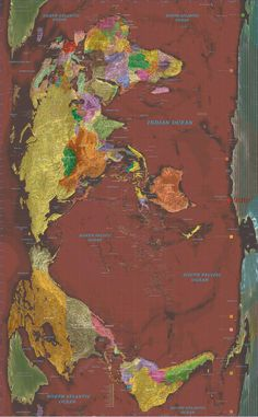 Rectangular World Map