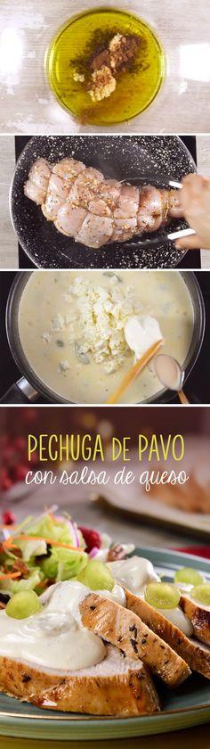 Prepara una pechuga de pavo en salsa de quesos y uva para celebrar Año Nuevo con tu familia