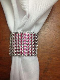 DIY Wedding Toilet Paper Bling Napkin Rings