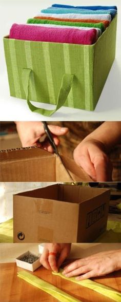 DIY Fabric Boxes Are Perfect For Your Bibs And Bobs