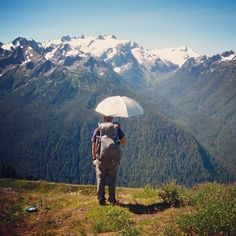In the mountains with the Chrome Hiking Umbrella. Here are a few of my thoughts. Olympic Mountains, Ultralight Backpacking, Minimalist Lifestyle, Barefoot, Wilderness, Olympics, Woods, Chrome, Hiking