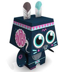 Un petit chat // a little cat paper toy