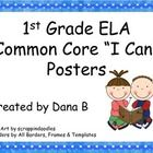 "Colorful ""I Can"" ELA Common Core posters can be displayed in the classroom for easy reference to the daily learning objective.  Objectives are stat..."