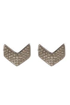 Sterling Silver V Shaped Stud Earrings