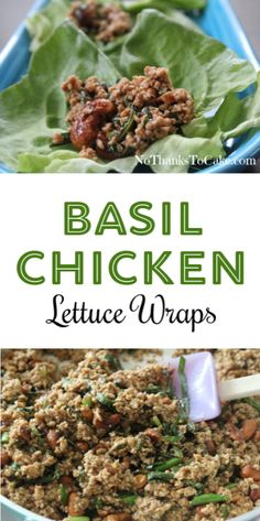 Basil Chicken Lettuce Wraps