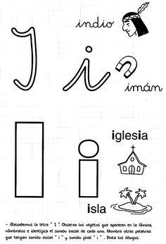 Fichas para infantil: Las vocales Hoy os dejamos fichas para trabajar las vocales, podemos conocer vocabulario, trabajar la lectoescritura, la