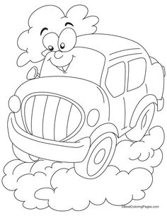 Cartoon Car Coloring Pages