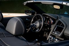 Rent Audi R8 V10 Spyder (2014) starting from 215$/day   #audi #r8 #v10 #spyder #black #german #germany #cars #car #auto #automotive #interior #super #sports #luxury #lux #exotic