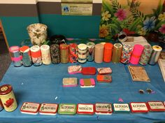 Survival Tins that the Pre-teens made; they will be put in Operation Christmas Child shoeboxes
