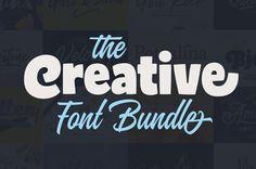 The Creative Font Bundle: 25 Best-Selling Fonts #creativefonts #bestfonts #typefaces #fontbundle #graphicdesign
