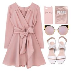A fashion look from June 2017 featuring long-sleeve mini dresses, white flat shoes and Fendi. Browse and shop related looks. Girls Fashion Clothes, Teen Fashion Outfits, Girl Fashion, Fashion Dresses, Girly Outfits, Cute Casual Outfits, Stylish Outfits, Outfit Trends, Looks Chic