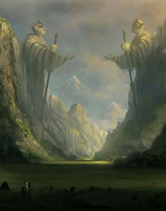 Ancient gates signifying the terminus of elven territory.