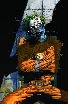 Joker, in Simone Volpi's print Comic Art Gallery Room Joker Batman, Batman Art, Joker Kunst, Batman Kunst, Der Joker, Joker Und Harley Quinn, Comic Book Characters, Comic Books Art, Comic Art