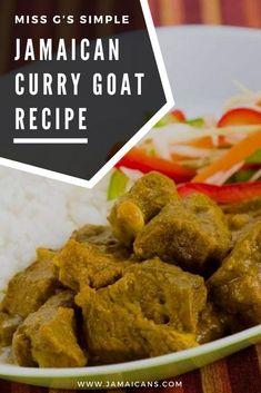Miss G's Simple Jamaican Curry Goat Recipe - Jamaicans.com