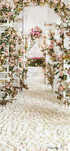Pathway to Love Story- i love the petal aisle look it looks Heavenly close to my vision