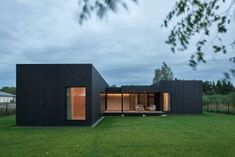 Inblum's contemporary redesign of the traditional Lithuanian country house comprises various purpose-oriented buildings of different sizes put together to form a habitable cluster of contemporary spaces