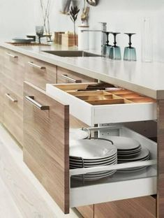 Either the price is one of the things you have to keep in mind, or not, there are enough IKEA kitchen design ideas here to inspire you into getting exactly what you want for your new or remodeled kitchen. We have found interesting takes on how you can redesign your kitchen with IKEA furniture and details, and how you can get them personalized for you to get a kitchen that feels more yours than something out of a catalog. Go ahead and take a look at the outstanding ideas we put together for you. Ikea Kitchen Design, Ikea Kitchen Cabinets, Kitchen Cabinet Design, Modern Kitchen Design, Home Decor Kitchen, Diy Kitchen, Kitchen Furniture, Kitchen Interior, Modern Design