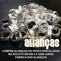 compre peças de prata e parcele em 4 x no boleto  fabrica das alianças