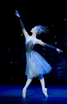 "Delia Mathews of the Birmingham Royal Ballet as Winter in ""Cinderella"""