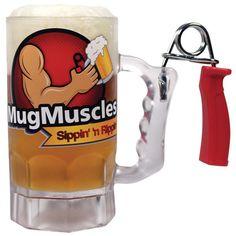 MugMuscles Beer Mug... creative mug for the man (or tough woman) in your life.
