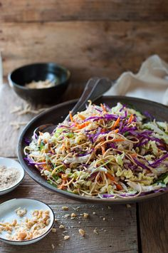 Chinese Chicken Salad - with crunchy noodles and an simple but amazing dressing