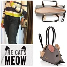 Kate Spade - Cat's Meow Mouse Bag Decorated to look like a (very stylish) mouse, this grey leather bag adds a dash of whimsy to any ensemble. kate spade Bags Mini Bags