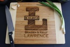 Personalized Monogrammed Cutting Board
