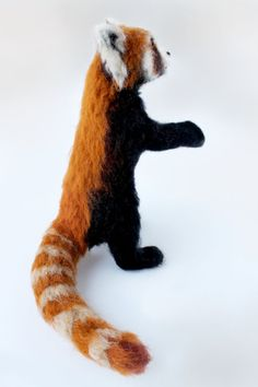 Needle Felted Red Panda Red Panda Soft by YvonnesWorkshop on Etsy