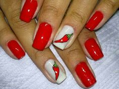 Red Spice by in Motives Nail Lacquers(Red Stiletto & Wedding Dress)! Fancy Nails, Cute Nails, My Nails, Pretty Nails, Acrylic Nail Designs, Nail Art Designs, Diva Nails, Nails Only, Nail Shop