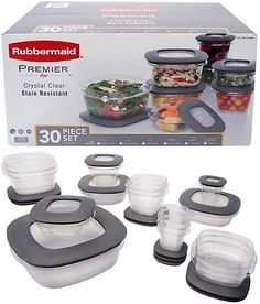 Rubbermaid Brilliance Food Storage Container Set 22 Piece Clear Gorgeous Food Storage Containers 20655 Rubbermaid Easy Find Lids 26Piece Review