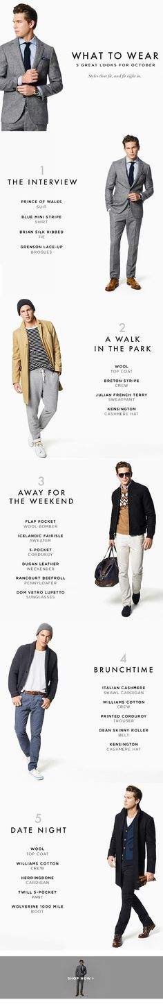 5 Looks to Try...style guide for the guys.