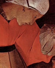 Художник - Жорж де Латур, картина «Иов и его жена, фрагмент: профиль жены Иова»: Барокко, Масло 1625г.