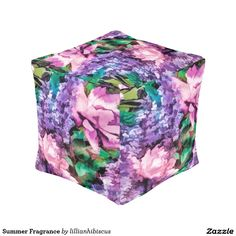 Summer Fragrance Cube Pouf