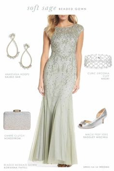 10be049b219bb Sage green beaded dress for the Mother of the Bride - Nordstrom 2018 Sale  Picks.
