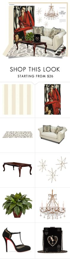 """""""Elegant Antique Style"""" by ildiko-olsa ❤ liked on Polyvore featuring interior, interiors, interior design, home, home decor, interior decorating, Somerset Bay, Furniture of America, Uttermost and Nearly Natural"""