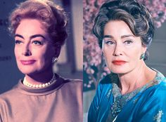 Jessica Lange and Joan Crawford from Feud: Bette and Joan Transformations: See How Much the Cast Looks like the Real-Life Figures
