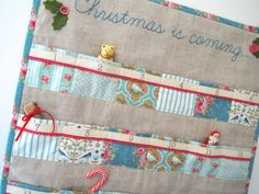 Christmas advent calendar Tilda teal and pink by SewSweetViolet, £79.90