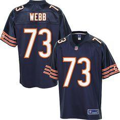 Men's Pro Line Chicago Bears J'Marcus Webb Team Color Jersey