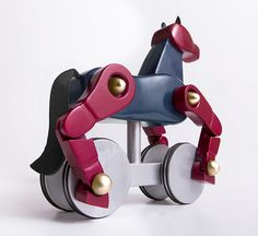 If It's Hip, It's Here: Two Brothers Create An Elegant New Toy You'll Want To Steal From Your Kids: My Wooden Horse.