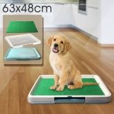 63cm x 48cm x 6cm approx. - Keep your home clean and give your dog access to a toilet alternative with this Indoor Dog Grass Restroom Pad.