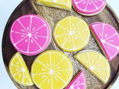 """""""Looking for the perfect summer treat? Then you must try this amazing sugar cookie recipe! I wanted to incorporate my two favorite colors in the set (pink ..."""
