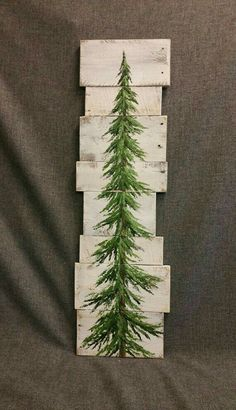 Pine tree Christmas tree white washed by TheWhiteBirchStudio Christmas Signs, Rustic Christmas, Christmas Projects, All Things Christmas, Holiday Crafts, Christmas Holidays, Christmas Decorations, Pallet Christmas Tree, Christmas Tree Painting