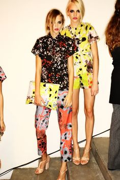 Good to see print aint dead for these girls anyway ; 2014 Trends, 2014 Fashion Trends, High Street Fashion, Runway Fashion, Fashion Outfits, Womens Fashion, Prada, She's A Lady, Fashion Prints