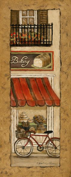 Village Bakery by Charlene Olson 8x20 in. Art Print